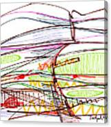 Abstract Pen Drawing Forty-five Canvas Print