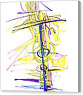 Abstract Pen Drawing Seventy-two Canvas Print