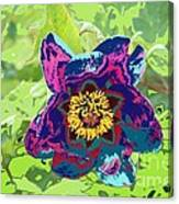Abstract Peonies Canvas Print