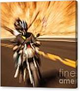 Abstract Photo Of Riders Canvas Print