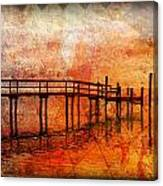 Abstract Pier Canvas Print