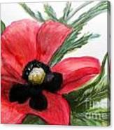 Abstract Poppy Canvas Print
