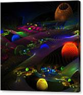 Abstract Psychedelic Fractal Art Canvas Print