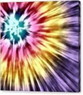 Abstract Purple Tie Dye Canvas Print