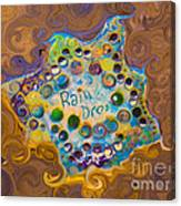 Abstract Rain Drop Canvas Print