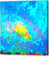Abstract Rainbow And Clouds Canvas Print