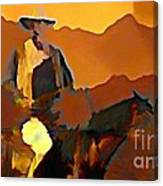 Abstract Range Riding Canvas Print