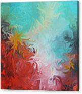 Abstract Red Blue Digital Print Canvas Print