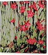 Abstract Red Flowers Canvas Print