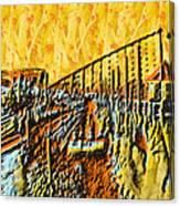 Abstract Roller Coaster Canvas Print