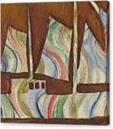 Abstract Sailboat Canvas Print
