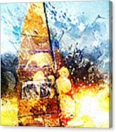Abstract Sailing Canvas Print