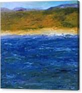 Abstract Shoreline Canvas Print