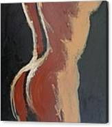 Abstract Sienna Torso - Female Nude Canvas Print