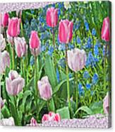 Abstract Spring Floral Fine Art Prints Canvas Print