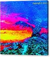 Abstract Sunset As A Painting Canvas Print