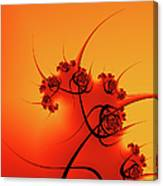 Abstract Sunset Fractal Canvas Print