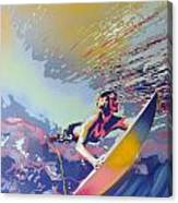Abstract Surf Canvas Print