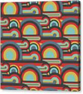 Abstract Textile Seamless Pattern Of Canvas Print