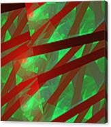 Abstract Tiled Green And Red Fractal Flame Canvas Print
