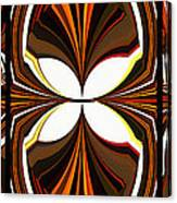 Abstract Triptych - Brown - Orange Canvas Print