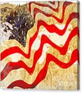 Abstract Usa Flag Canvas Print