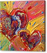 Abstract Valentines Love Hearts Canvas Print