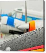 Abstract View Of Airshow During A Rain Storm Canvas Print
