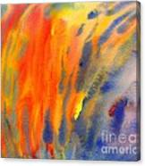 Abstract Watercolor Painting With Fire Flames Canvas Print