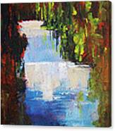 Abstract Waterfall Painting Canvas Print