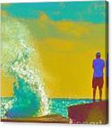 Abstract Wave Crash Canvas Print