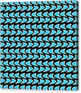 Abstract Waves On A Black Background Canvas Print