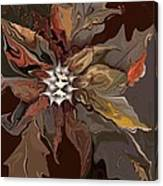 Abstract Whispering Leaves Canvas Print
