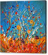 Abstract Wildflowers Canvas Print