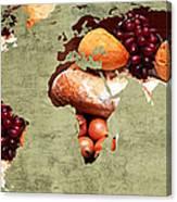 Abstract World Map - Harvest Bounty - Farmers Market Canvas Print
