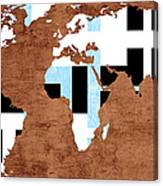 Abstract World Map - Which Way Is Up - Painterly Canvas Print