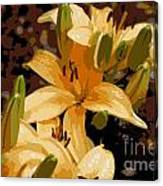 Abstract Yellow Asiatic Lily - 2 Canvas Print