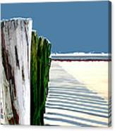 Abstracted Beach Dune Fence Canvas Print