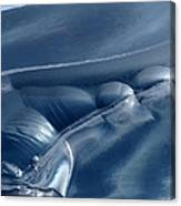 Abstraction In Blue Canvas Print