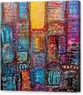 Abstrtact City Sunset Canvas Print