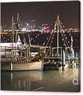 Abu Dhabi At Night Canvas Print