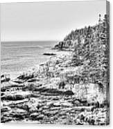 Acadia National Park In Bw Canvas Print