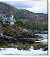 Acadia Seaside Mansion Canvas Print
