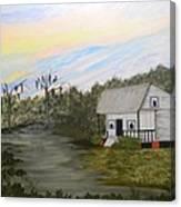 Acadian Home On The Bayou Canvas Print