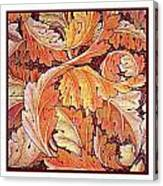 Acanthus Vine Design Canvas Print