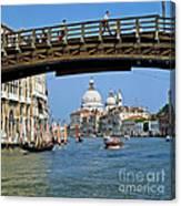Accademia Bridge In Venice Italy Canvas Print