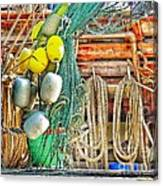 Accessories To Shrimp Catching Canvas Print