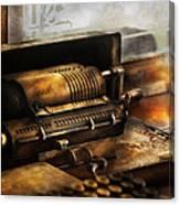 Accountant - The Adding Machine Canvas Print