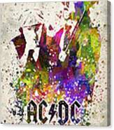 Acdc In Color Canvas Print