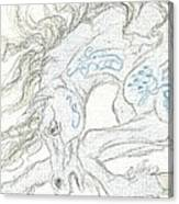 Aceo Blue Unicorn Canvas Print